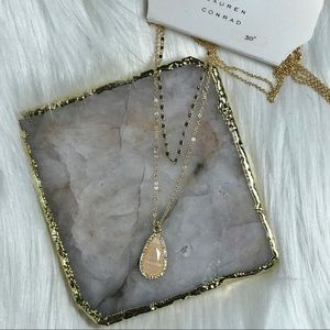 Lauren Conrad Stone Pendant Necklace NWT